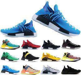 Discount fashion casual classic mens shoes - Top Fashion Human Race Hu trail pharrell williams Classic men Casual shoes Nerd black cream mens trainer women designer