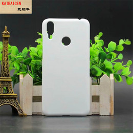plastic sublimation NZ - Wholesale 3D Sublimation Blank Matte DIY Case for Huawei play 8C mobile phone cover