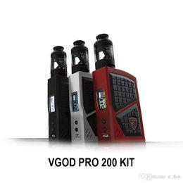 Atomizer Pro Tank Kits UK - VGOD PRO 200 Kit 200W BOX MOD 5ml Large Capacity Subohm Tank Atomizer Electronic Vape Cigarette Starter Kit