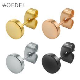 a33c4998b 3-14mm Round Men Earring Stainless Steel Small Ear Studs Punk Black Earrings  For Men Jewelry Trendy Mens Earrings Male Hip Hop