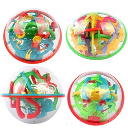 magnetic maze puzzles NZ - 3D Magic Maze Intellect Rolling Ball Puzzle Labyrinth Ball Spherical Balance Logic Ability For Kids Birthday Gift