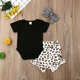 $enCountryForm.capitalKeyWord Australia - Summer Newborn Baby Girl Clothes 3Pcs Leopard Print Romper Top Short Pants Outfit Infant Clothes Toddler Baby Set Girls Clothing