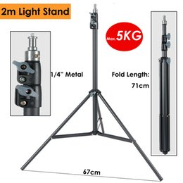heavy duty tripods UK - Light Heavy Duty Metal 2m Light Stand Max Load 5KG Tripod for Photo Studio Softbox Video Flash Reflector Lighting Background Stand