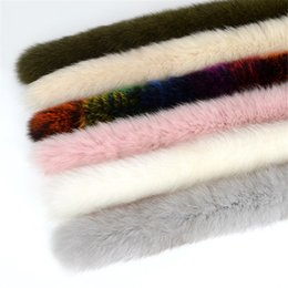 Fox Grey Australia - 100% Real Fur Collar DIY Winter Natural Fox Fur Collar for Hood