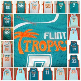 basketball jersey xxl Australia - Mens Flint Tropics Semi-Pro Jackie Moon Jersey #11 ED Monix #7 Coffee Black #55 Vakidis #69 Downtown Semi-Pro Movie Basketball Jersey S-3XL