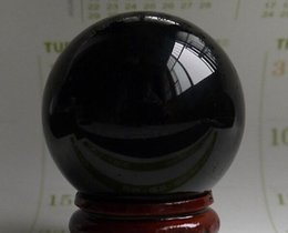 $enCountryForm.capitalKeyWord Australia - HOT SELL NATURAL POL ISHED BLACK CRYSTAL SPHERE BALL 38MM +STAND