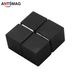 Neodymium Magnets N52 Wholesale Australia - 4-Pack Plastic Coated N52 Neodymium 15mm Cube Magnets DIY Permanent Magnets