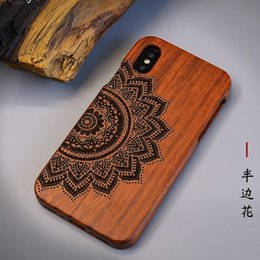 $enCountryForm.capitalKeyWord UK - 2019 HALF FLOWER carved two-piece set Eco-friendly natural Wood cell phone case for iPhone 6s 6plus 7 7plus X XS XSmax