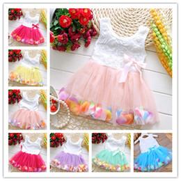 $enCountryForm.capitalKeyWord Australia - Baby Girls Dress 2019 Summer Floral Flower Sleeveless dresses Girls Mesh Tulle TUTU Beach Skirt Kids Princess Wedding Dress Best SellingB362