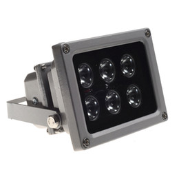 Ingrosso Lampadina a infrarossi CCTV LEDS Lampada a infrarossi 6pcs 850NM Array Led IR Outdoor Visione notturna impermeabile CCTV Luce di riempimento per telecamera CCTV