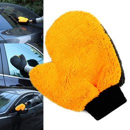 velvet brush Australia - 1Pc New Coral Fleece Velvet Plush Short Wool MiWash Car Mitten Washing Brush Cleaning Glove Tools Cloth CSL2017