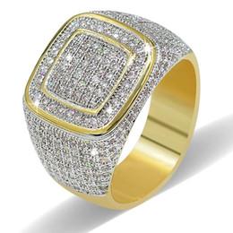 Ring Tin Australia - Hip Hop Diamond Rings Newest Men's miami Cuban Design Rings Gold Bling Rings For Party Bar