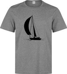 $enCountryForm.capitalKeyWord UK - Sailing ship and sailor in the sea art Men's (woman's available) grey t shirt Funny free shipping Unisex Casual Tshirt