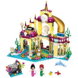 girl friends blocks 2019 - Friends Princess Undersea Palace Princess Mermaid Girl Game House Building Block Children Toy cheap girl friends blocks