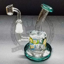 Fritted disk bongs online shopping - rick and morty bong Rooster bubbler oil rigs glass bongs dab rig mm water pipes perc fritted disk bubbler vortex somking water pipe