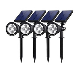 Wholesale Upgraded Solar Lights in Waterproof Outdoor Landscape Lighting Spotlight Wall Light Auto On Off for Yard Garden Driveway Pathway Pool