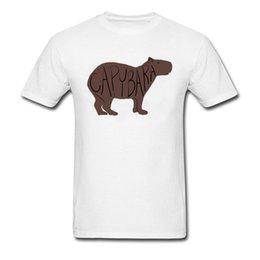 $enCountryForm.capitalKeyWord Australia - Casual Capybara Crew Neck T Shirt Summer Tops Shirt Short Sleeve For Men New Coming 100% Cotton Print T Shirt Drop Shipping