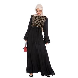 Discount turkish islamic clothes - CM6216 Hijab Muslim Dress Sequin Abaya Dubai Turkish Dresses Women Islam Caftan Marocain Kaftan Qatar Omani Islamic Clot