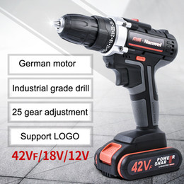 mini-akku großhandel-2Speeds Electric Drill Akkuschrauber V V V Lithium Batterie Akku Bohrschrauber Mini Akkuschrauber Elektrowerkzeug VT0937 Drill