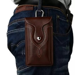 cover alcatel pop UK - Outdoor Leather Waist Belt Clip Hook Loop Phone Case Cover Bag For Alcatel One Touch Pop C9   Flash Plus 2   Idol 3 Idol 4S