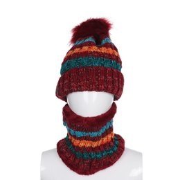 $enCountryForm.capitalKeyWord NZ - 2019 Women New Winter Knitted Scarf and Hat Suit Set Warm Solid Pompoms And Scarves Cute Girls Beanie knitted Caps New