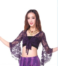 Square dance clothing Belly Dance Top trumpet sleeve practice lace long Top shawl lace shawl sleeve