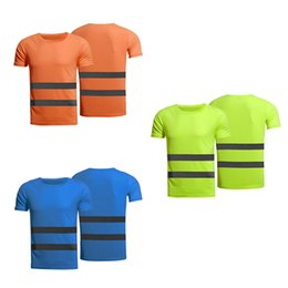 $enCountryForm.capitalKeyWord Australia - Outdoor New Fluorescent Yellow Orange Work T-shirt Breathable Running High Visibility T-shirt Summer