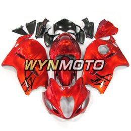 Chinese  Motorcycle Fairings For Suzuki GSXR1300 Hayabusa 1997 1998 1999 2000 2001 2002 2003 2004 2005 2006 2007 Red ABS Plastic Injection Motor Kits manufacturers