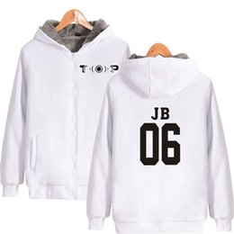 $enCountryForm.capitalKeyWord Australia - Hip Hop Group GOT7 2D hoodie Women men zipper fashion hoodie sweatshirt casual Thicken zipper sweatshirt