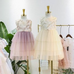 $enCountryForm.capitalKeyWord Australia - 2019 Summer Children party dresses girls stereo leaves embroidery vest princess dress kids love heart backless tiered lace cake dress