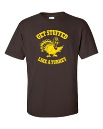 $enCountryForm.capitalKeyWord Australia - GET STUFFED LIKE A TURKEY Thanksgiving Day Football GOLD PRINT Men's Tee Shirt