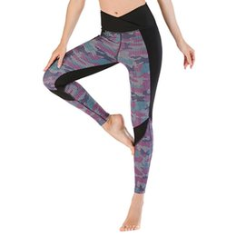 black sexy women yoga pants NZ - Professional Running Fitness Gym leggings sport women fitness Tight Trouser Leggins Printed Sexy Yoga Pants Women Push Up#g2
