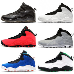 jordan retro 10 venda por atacado-air jordan retro Sapatos Jumpman Seattle s Mens Basketball Tinker Im Voltar Westbrook Chicago cinzento GS Fusão Red Men Trainers Designer Esportes Tênis