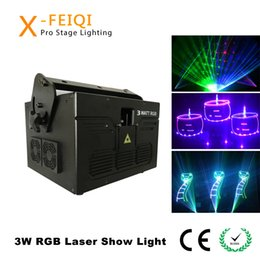 professional laser show equipment Australia - 3W 3000MW diode rgb animation beam laser light show performance ilda laser equipment danceroom night club shows