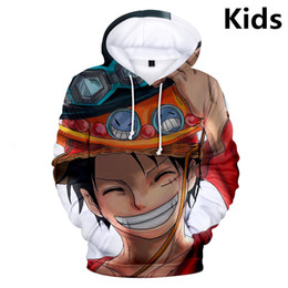 Skull clotheS kidS girlS online shopping - New To Years Kids Hoodies One Piece Luffy D Printed Hoodie Sweatshirt Boys Girls Long Sleeve Jacket Brand Children Clothes SH190914
