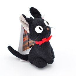 Japan stuff toys online shopping - Witch Home Delivery Small Black Cat plush Toy Pendant Doll Japan Original Single Anime Small Black Cat Stuffed Doll