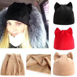 Woman Earmuffs Australia - KANCOOLD 2018 Fashion Women Baggy Warm Warm Cat Hats Earmuffs Hat Crochet Winter Stylish Ski Beanie Skull Slouchy Caps PJ1002 S18120302