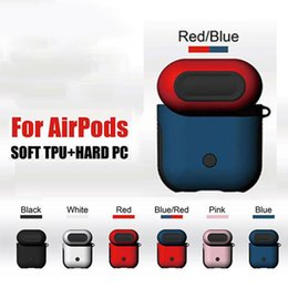$enCountryForm.capitalKeyWord NZ - PC TPU Airpods with Hand Strap Bluetooth Wireless Earphone Case ShockProof Cover Anti-drop Accessories for iPhone retail package