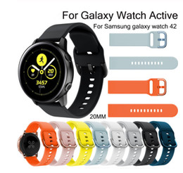$enCountryForm.capitalKeyWord Australia - 20mm Replacement Silicone Watch Strap for Samsung Galaxy Active Galaxy 42mm Band for Samsung Galaxy Watch Active 20mm S2 Band Sport Huami