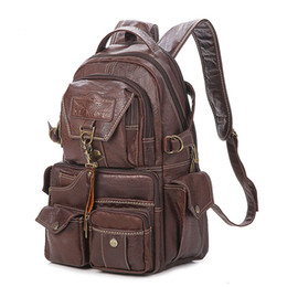 c86b8b8577 2019 The New Large Capacity Pvc Material College Vintage Shoulder Women s  Backpack Students Travel Computer Leather Bag Mochilas