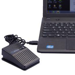 $enCountryForm.capitalKeyWord Australia - Newest Black Plastic USB Single Foot Switch Pedal Control Keyboard Mouse PC Game
