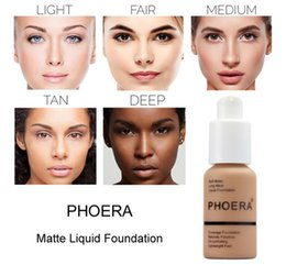 Oil Free Makeup Brands Australia - New Brand Makeup Foundation PHOERA Matte Oil-contral Liquid foundation 10 Colors Concealer DHL Free Shipping