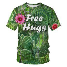 $enCountryForm.capitalKeyWord Australia - New tree digital printing Slim round neck sports couple shirt fashion sleeve short sleeve T-shirt men's clothing