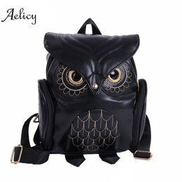 $enCountryForm.capitalKeyWord Australia - 2018 Brands Aelicy Fashion Women Cute Owl Backpack Cartoon School Bags For Teenagers Girls Pu Leather Women Backpack P36 Y19051405
