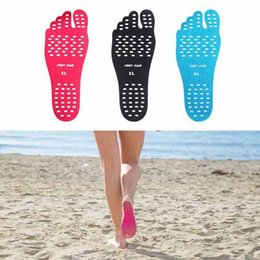 adhesives for shoe soles 2019 - New Hot Sticker Shoes Stick On Soles Sticky Pads Beach Sock Waterproof Hypoallergenic Adhesive Pad For Feet cheap adhesi