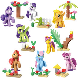 $enCountryForm.capitalKeyWord Australia - My Little Horse Unicorn Rainbow Pony Mini Princess Toy Figure Birthday Party Gift Building Block For Girl