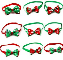 Costumes suppliers online shopping - lastest Pet puppy Cat Dog Christmas tree snowflakes bow tie necklace collar bowknot necktie grooming for pet supplier decoration Costume