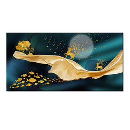 $enCountryForm.capitalKeyWord Australia - Wall Art Gifts Hot series Modern Abstract Gold Feng Shui Koi Fish Painting Printed On Canvas Picture office Living Room Home Decor BFS4016