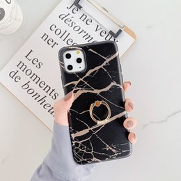 Ca gold online shopping - Luxury Designer Phone Case For iPhone Pro Max XR XS MAX XR PLUS Samsung Note S10Plus Diamond Ring Stand Soft TPU Ca