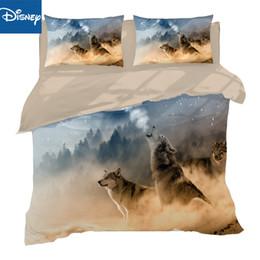 $enCountryForm.capitalKeyWord Australia - Hot Sale Fashion Design 3d Bed Sheet Three Set Animal Series Wolf Digital Printing queen full size Bedding Set